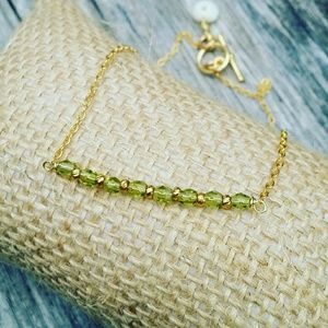 GP Anklet-Peridot Crystal